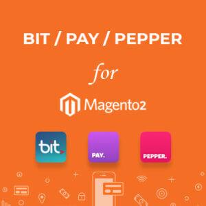 תוסף תשלומים BIT / PEPPER / PAY למג'נטו2